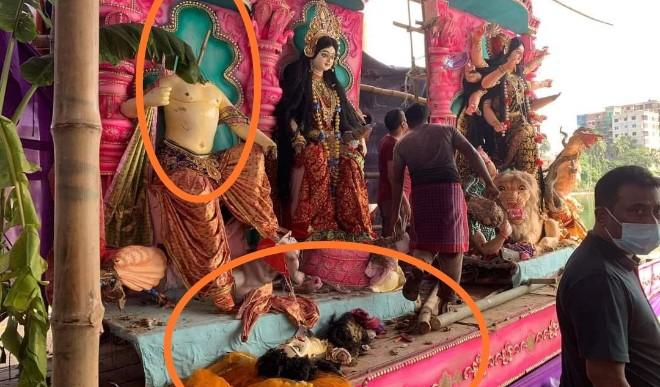 बांग्लादेश में हिंदुओं पर किया गया हमला, दुर्गा पूजा के दौरान मूर्तियों को तोड़ा, पंडाल में मौजूद तीन हिंदुओं की हत्या की