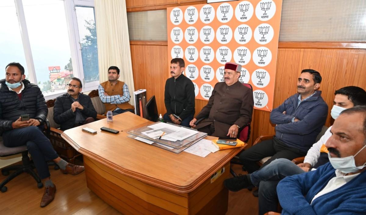 केंद्रीय मंत्री अनुराग ठाकुर एवं प्रदेश प्रभारी अविनाश राय खन्ना जुब्बल कोटखाई के दौरे पर